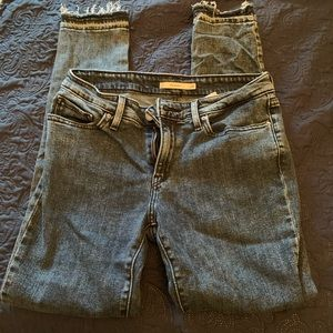 Levi's 711 Jeans with Frayed Ankles
